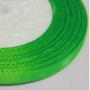 Лента атласная  однотонная ярко-зеленый, 6мм,  1м.