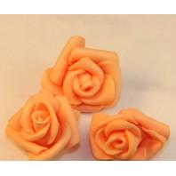 Цветок розы из фоамирана 2,5см, нежно-оранж., 5шт