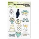 Декоративные элементы 'Свадьба',  12 шт