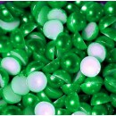 Полубусины термоклеевые перламутровые,зеленые, 6мм, набор 10 шт.