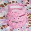 Кружево хлопковое на клеевой основе, цвет - насыщенный розовый, 2 м
