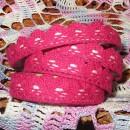 Кружево хлопковое на клеевой основе, цвет малиновый, 2 м