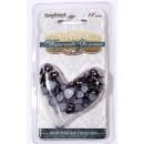 Сердечки жемчужные КОРИЧНЕВО-ЗОЛОТЫЕ 6 мм и 8 мм, 60 шт