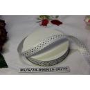 Декоративная лента Горошек на белом, 15мм, 1м