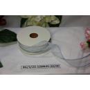 Декоративная лента Белая с голубым краем, 25мм, 1м