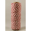 Шпагат для рукоделия и упаковки, Bakers twine, трехцветный кр. серый бел., 3 м.