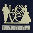 Декоративное полимерное украшение для оформления обложек свадебного альбома