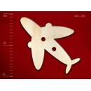 Деревянная пуговица в виде самолета, 25 мм, 1 шт.
