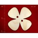 Деревянная пуговица в виде цветка-2, 25 мм, 1 шт.