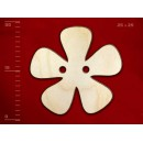 Деревянная пуговица в виде цветка-3, 25 мм, 1 шт.
