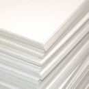 Пивной картон, 20х25см, толщина 1,25 мм, цвет белый