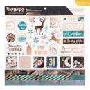 Чипборд с фольгированием на клеевой основе «Зачарованная пора», 30,5 × 30,5 см