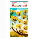Наклейка декоративная фетровая 1 Пчелы 1, 95х185