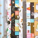 Бумага для скрапбукинга с фольгированием «Выпускной» («Школьная пора»), 10 листов, 30.5 × 30.5 см