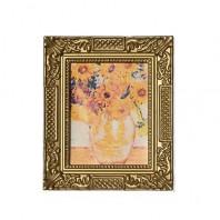Картина в квадратной раме 'Подсолнухи', 5,5см х 6,5см