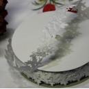 Декоративная лента Белые розочки, 25мм, 1 м