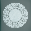 Ажурные декоративные салфетки, диаметр 180 мм,   10шт