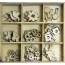 Набор деревянных элементов, 9шт., 'Весна'