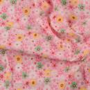 Ткань для пэчворка,  50х50 см, Розовая серия, Floral Stripe Dot Plaid Gird,  -7