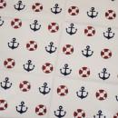 Ткань для пэчворка,  40х50 см, Серия Океан,   -10