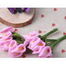 Набор цветочков, каллы, цвет розовый, 12шт