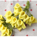 Набор цветочков, каллы, цвет жёлтый, 12шт