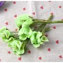 Набор цветочков, каллы, цвет салатовый, 12шт