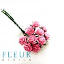 Мини-розочки Розовые, размер цветка 1 см, 10 шт/упаковка