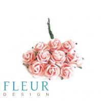 Мини-розочки Шебби-Розовые, размер цветка 1 см, 10 шт/упаковка