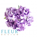 Цветы Гардении Фиолетовые, размер цветка 4 см, на стебле, 5 шт