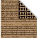 Лист двусторонней бумаги крафт