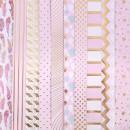 Набор односторонней бумаги с фольгированием «Розовые облака», 30х30 см, 10 листов
