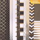 Набор односторонней бумаги с фольгированием «Магический чёрный», 30х30 см, 10 листов