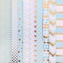 Набор односторонней бумаги с фольгированием «Радость дня», 30х30 см, 10 листов
