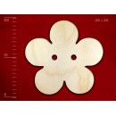 Деревянная пуговица в виде цветка, 25 мм, 1 шт.