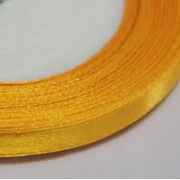 Лента атласная  однотонная ярко-оранж., 6мм,  1м.