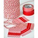 Шпагат для рукоделия и упаковки, Bakers twine, цвет ярко-красный, 3 м.