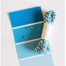 Шпагат для рукоделия и упаковки, Bakers twine, цвет морской голубой, 3 м.