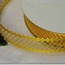 Декоративная лента Желтая сеточка, 25мм, 1м