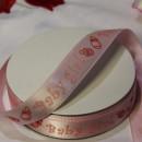 Декоративная лента Baby girl на розовом, 15мм,  1м