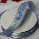 Декоративная лента Baby boy на голубом, 15мм, 1м