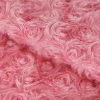 Ткань для пэчворка Плюш «Утренний пион», 55 х 50 см