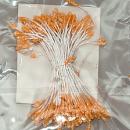 Набор мелких тычинок с покрытием крошкой, цвет оранжевый, 2 мм, 85 штук