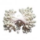 Набор тычинок с покрытием крошкой, цвет белый, 4 мм, 85 штук