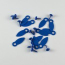 Набор брадсов + анкеры, цвет синий, 4,5 мм, 10+10 шт