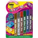 Клеящие блестки Glitter Glue 6*10мл, быстросохнущие