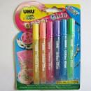 Клеящие блестки Glitter Glue 6*10мл (эффект полировки), быстросохнущие