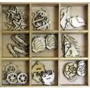 Набор деревянных элементов, 9шт.,