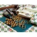 Набор люверсов с колечками для ткани 4,5 мм, цвет 'под золото', 20 шт