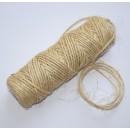 Шнур декоративный из сизаля, цвет натуральный